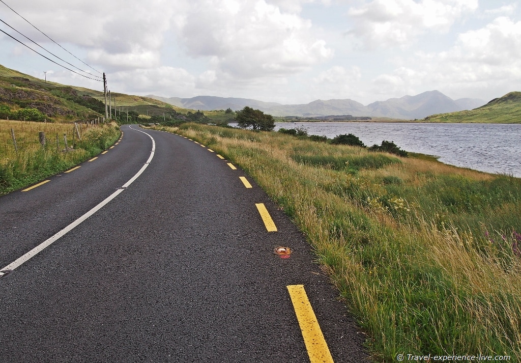 Cycling in Connemara, Ireland.