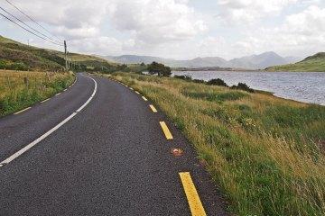 Cycling in Connemara, Ireland.