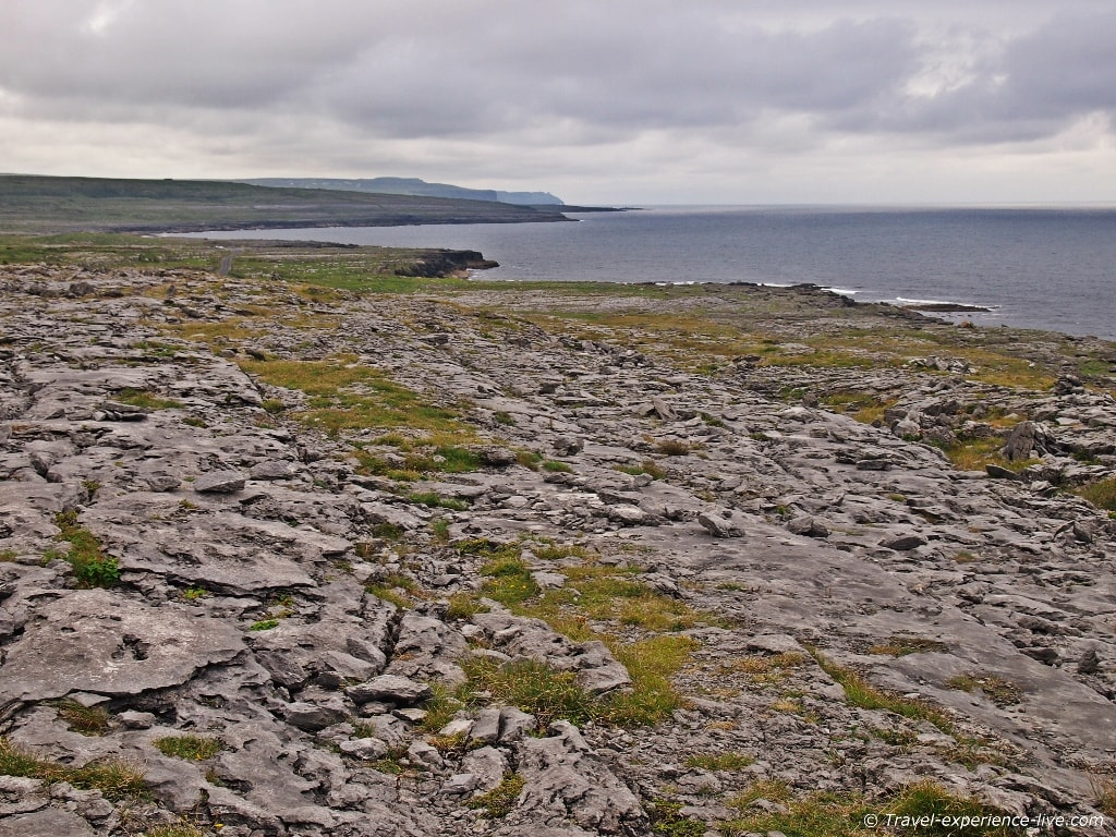 Wild landscape in the Burren, Ireland.