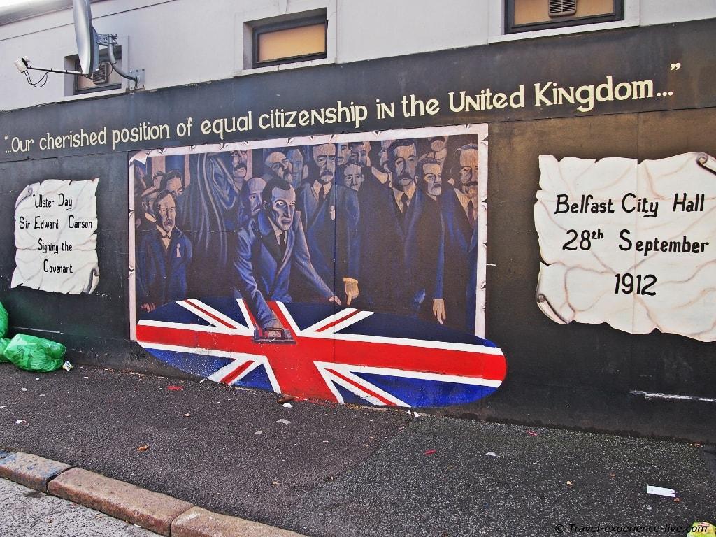 Mural on Shankill Road, West Belfast.