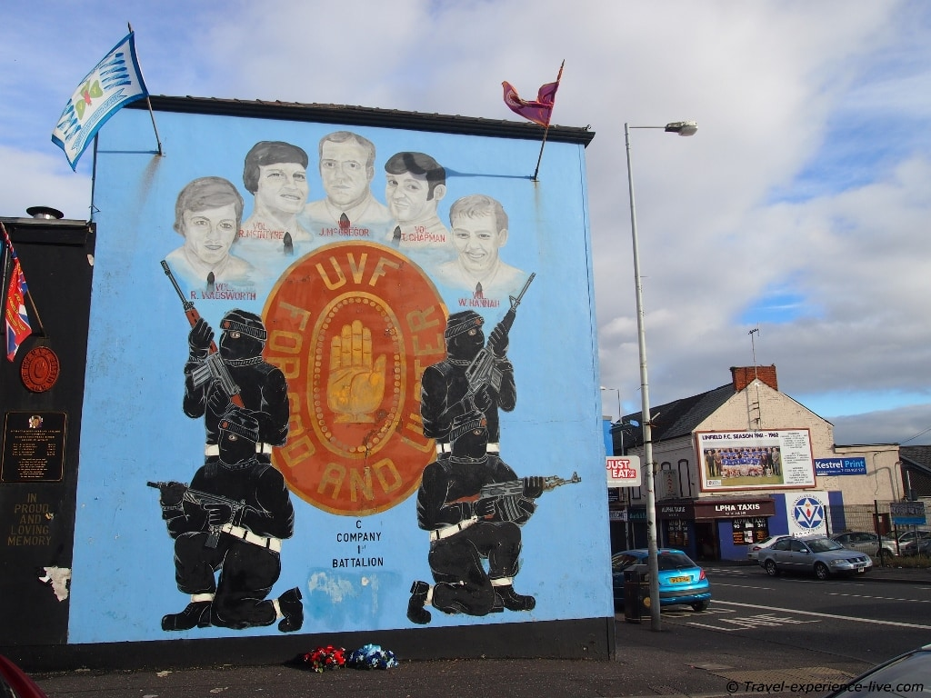 Loyalist mural on Shankill Road, Belfast.