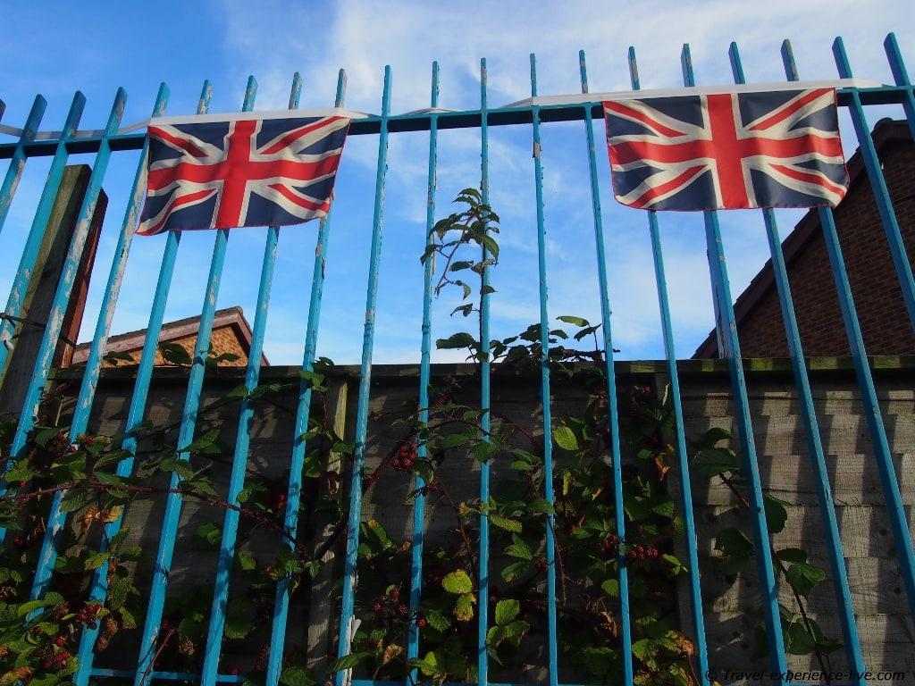 British flag, Shankill Road, Belfast.