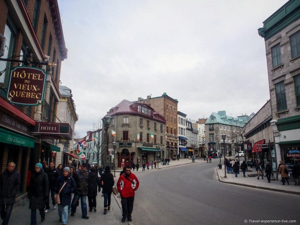 Shops in Old Québec City, Canada.