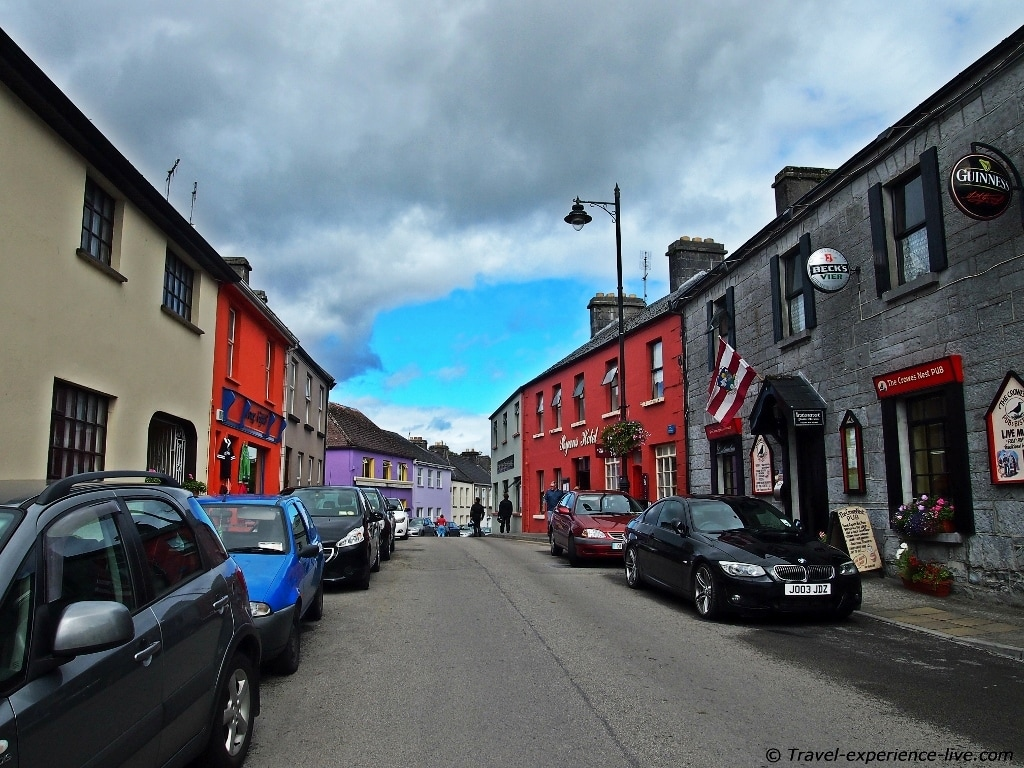 Street in Cong, Ireland.