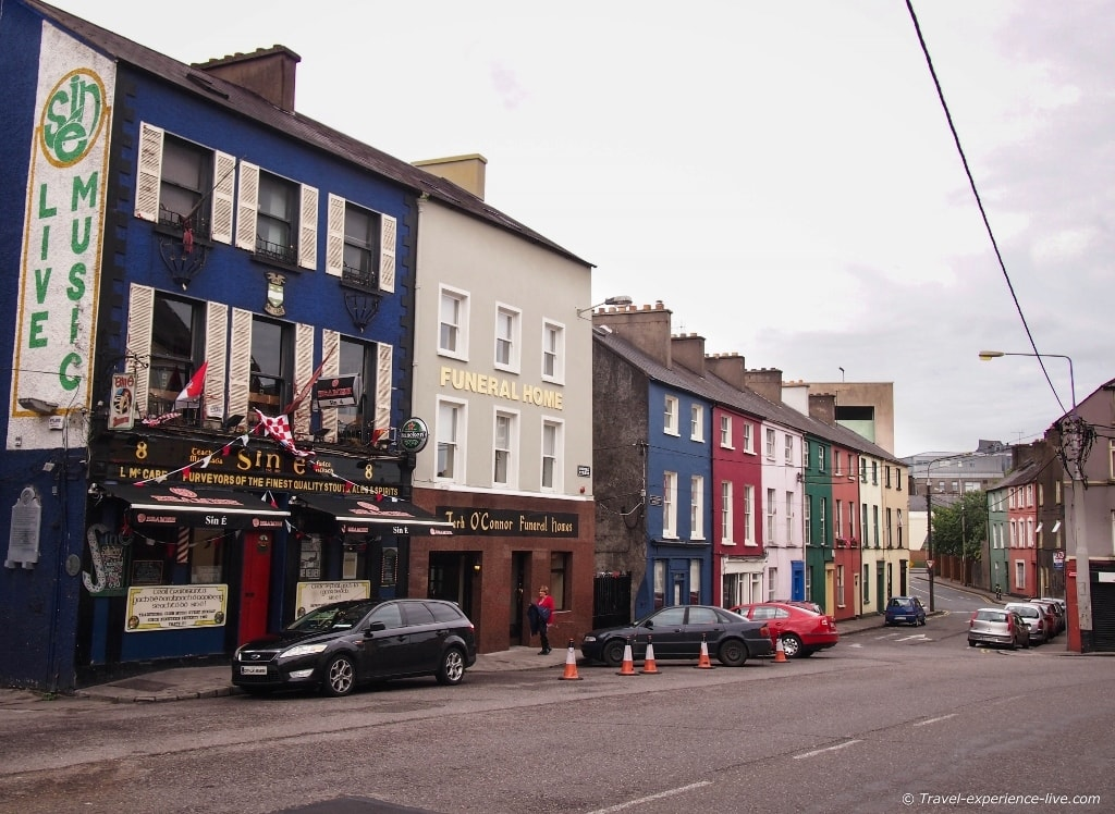 Irish street in Cork.