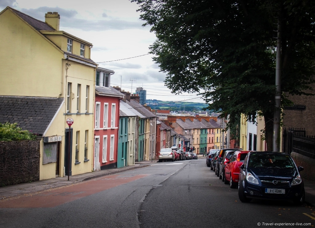 Irish streets: Colored houses in Cork.