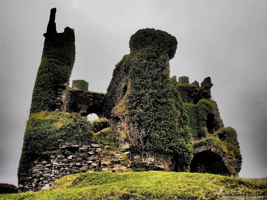 Ballycarbery Castle ruins in Ireland.