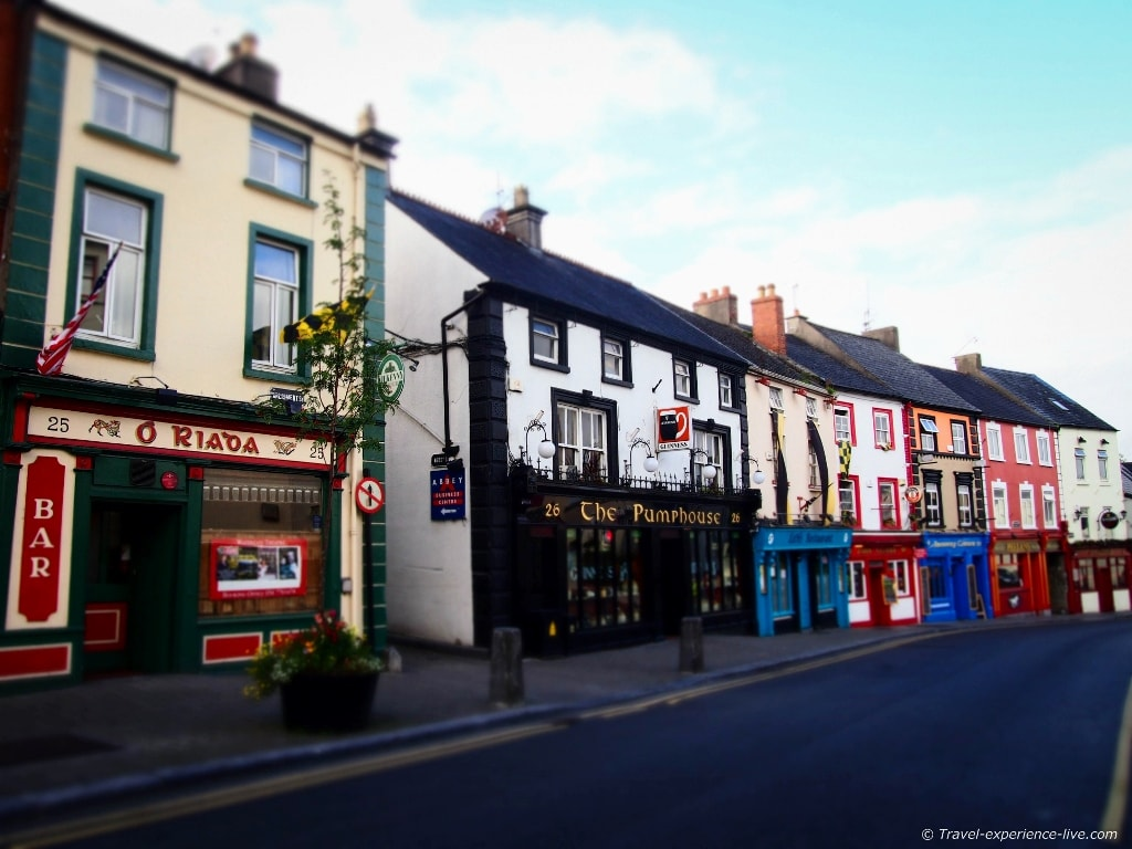 Pubs in Kilkenny, Ireland.