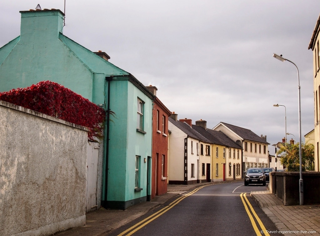 Colorful Irish street in Kilkenny.
