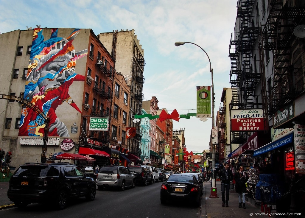 Little Italy in New York City.