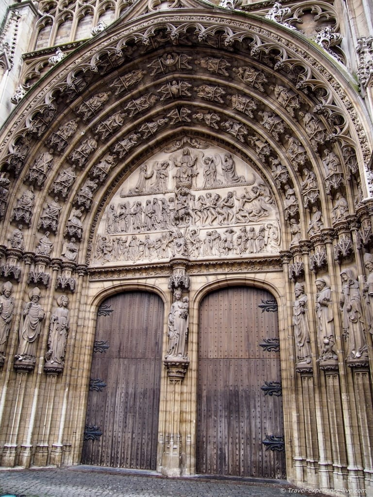 Doors of the Cathedral of Our Lady in Antwerp.