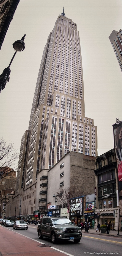 Empire State Building in New York City.