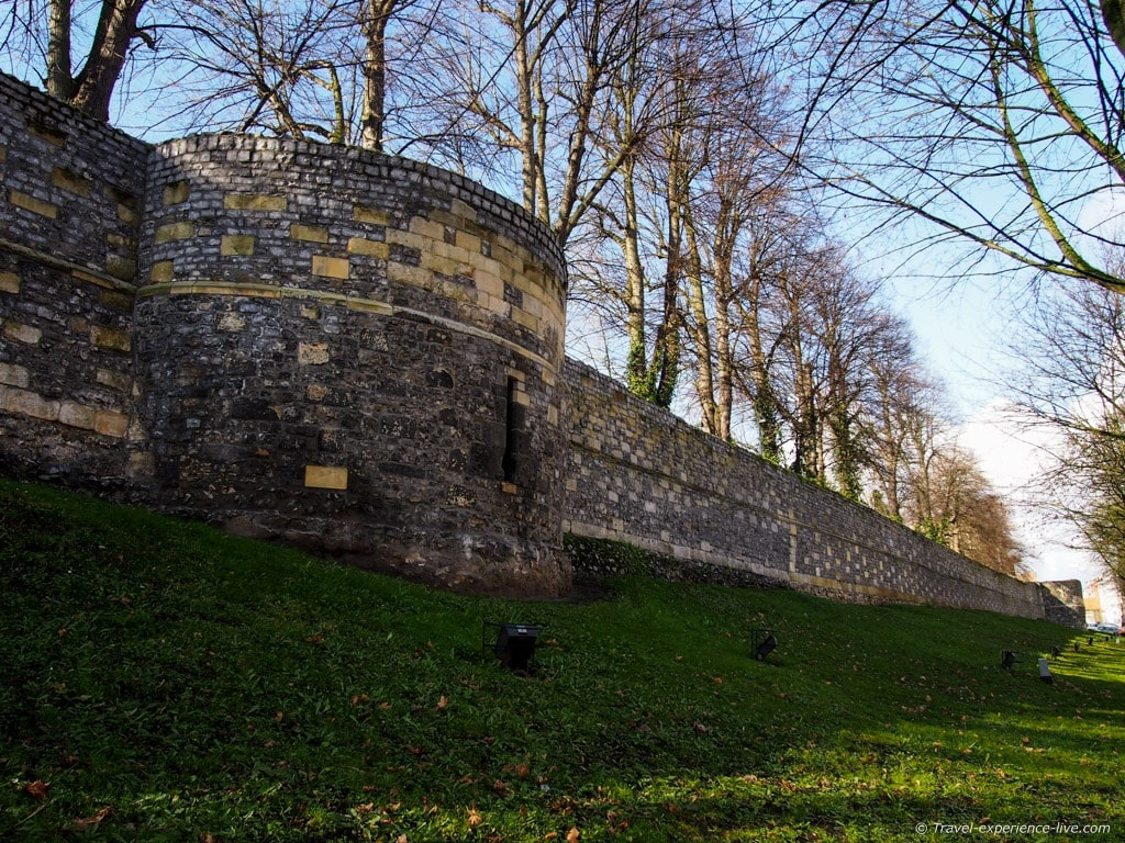 Medieval city walls of Tongeren