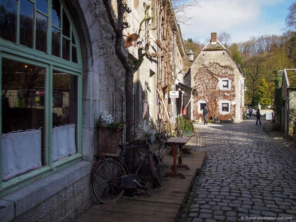 Quaint street in Durbuy, Belgium