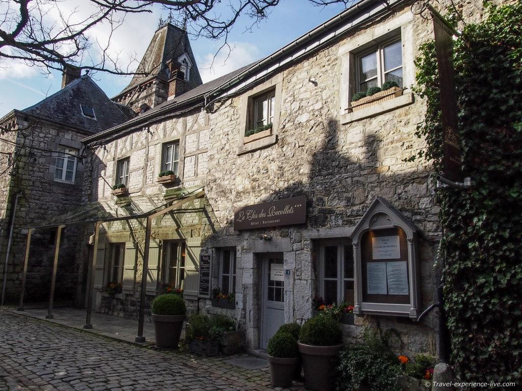 Gray stone houses in Durbuy, Belgium