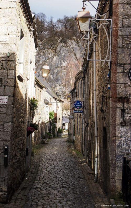 Cozy cobble stone street of Durbuy