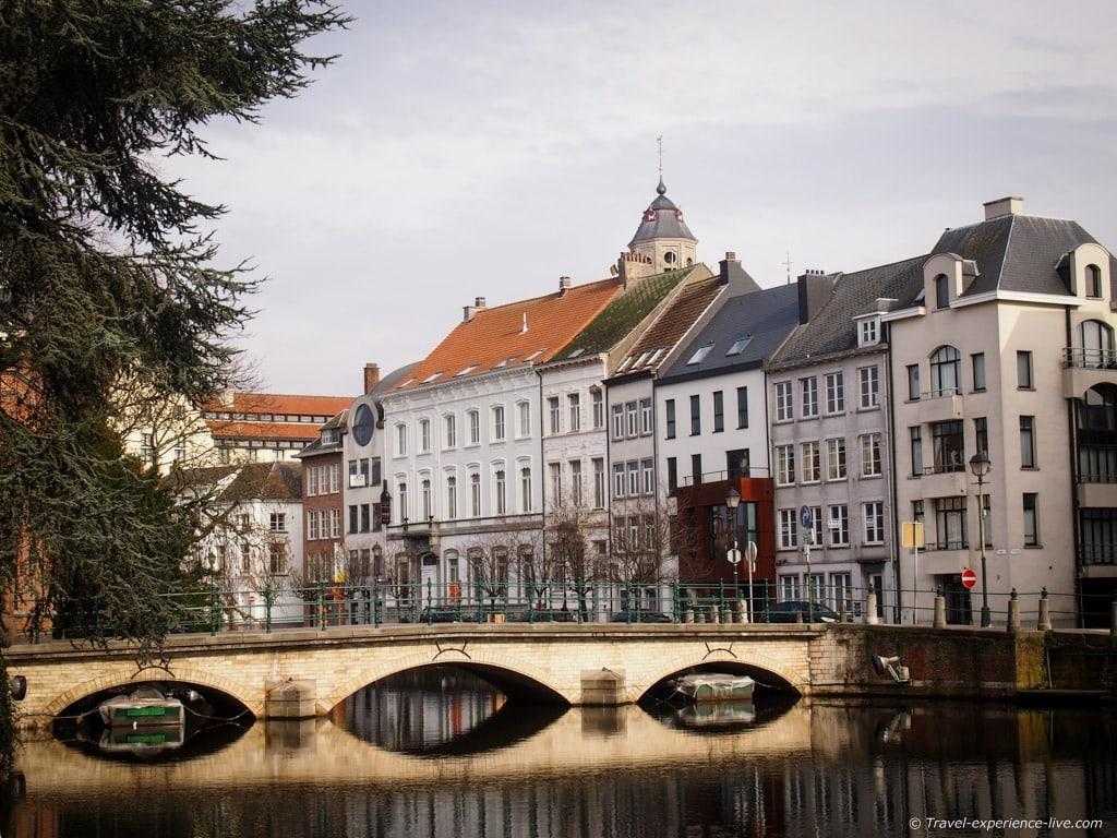 Canal in Lier, Belgium