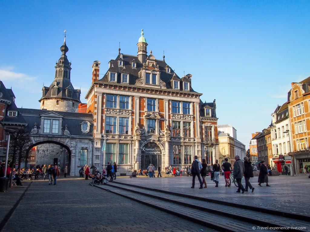 Place d'Armes and the Belfry of Namur, Belgium