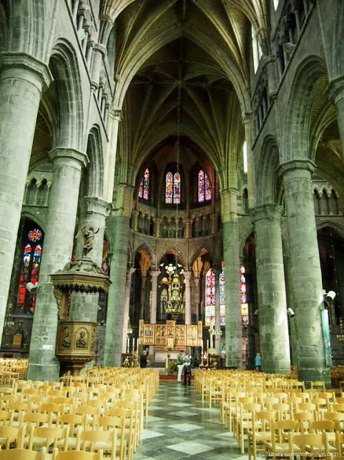Inside the Collegiate Church of Notre-Dame, Dinant, Belgium