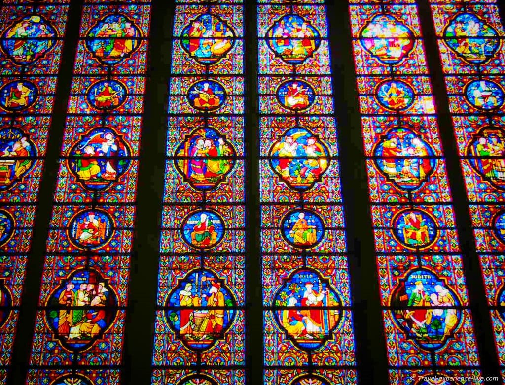 Stained-glass windows in Dinant, Belgium