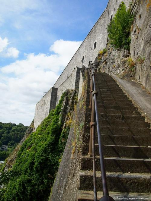 408 stairs to the Citadel of Dinant, Belgium