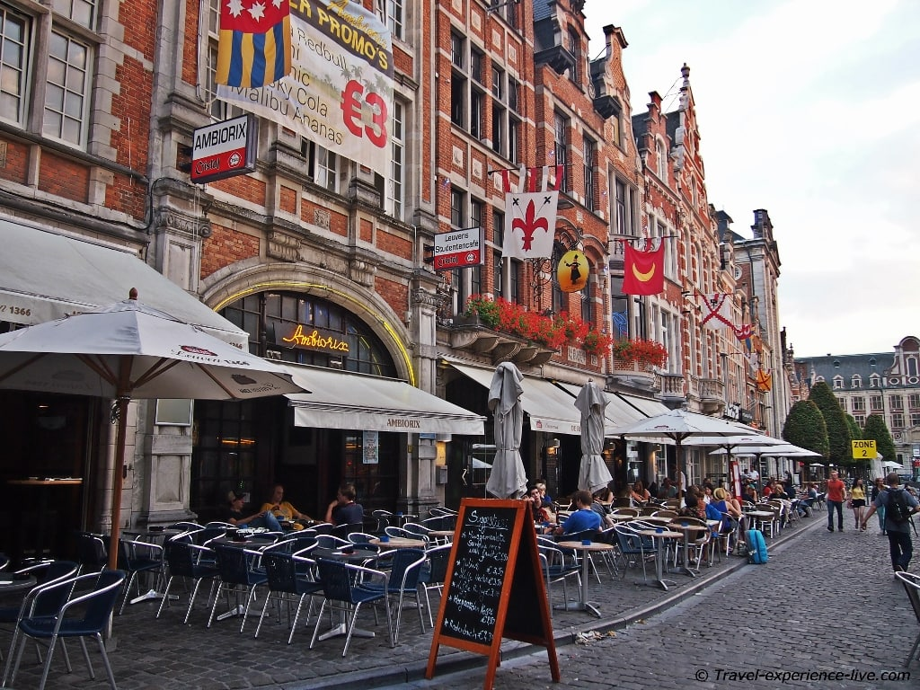 Glorious bars at the Old Market of Leuven, Belgium