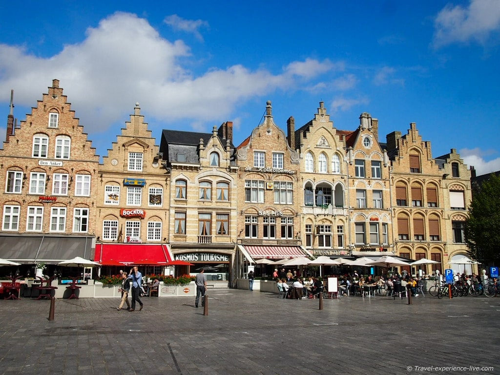 Beautiful architecture at the Ypres town square, Belgium