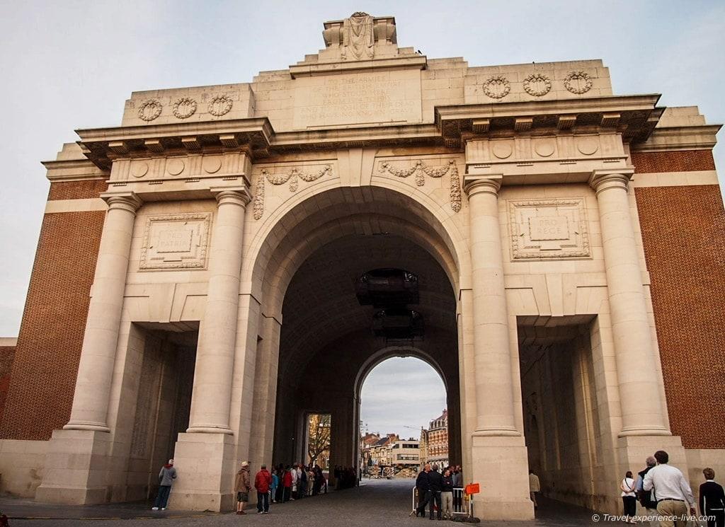 The Menin Gate in Ypres, Belgium
