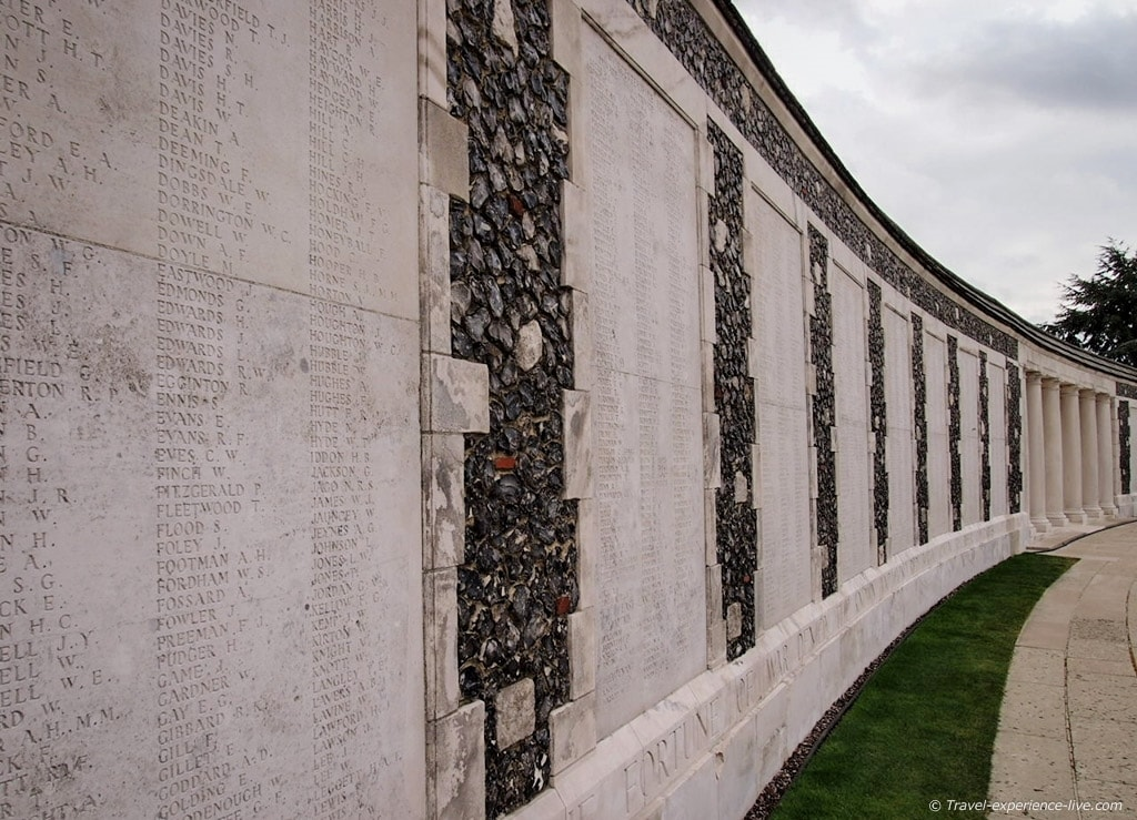 Missing soldiers at Tyne Cot, Belgium
