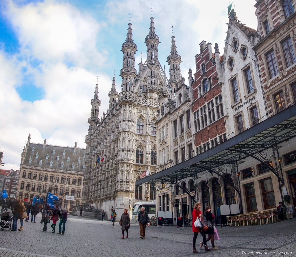 The Town Hall at the Great Market Square in Leuven, Belgium