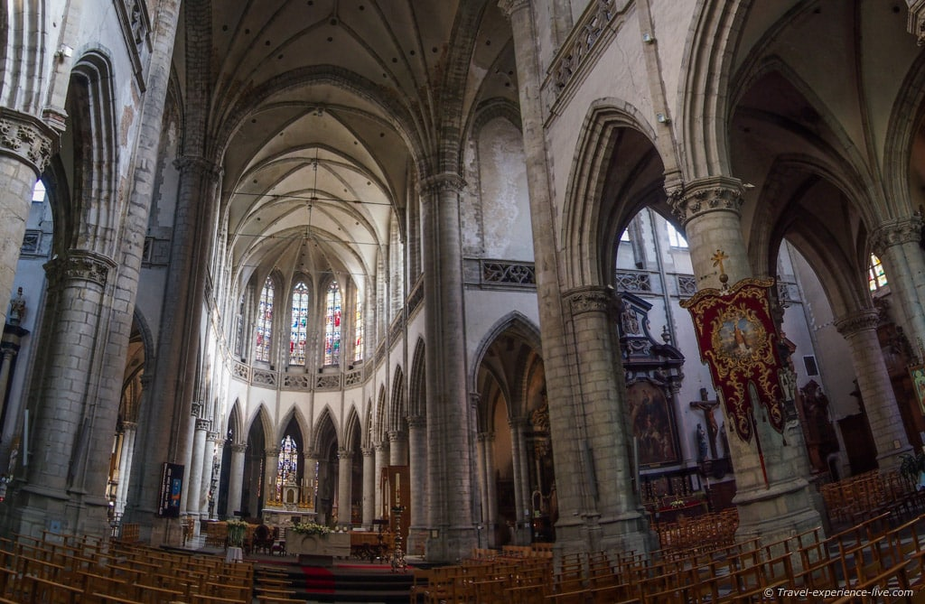 Interior of the St Martin's Church, Aalst, Belgium