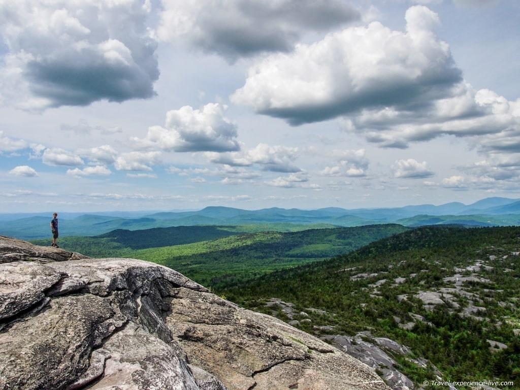 Summit of Mount Cardigan, NH.