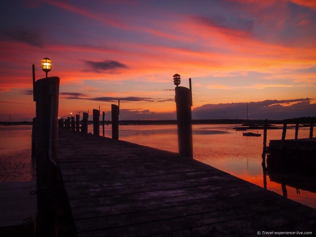 Sunset in Westport, Massachusetts.