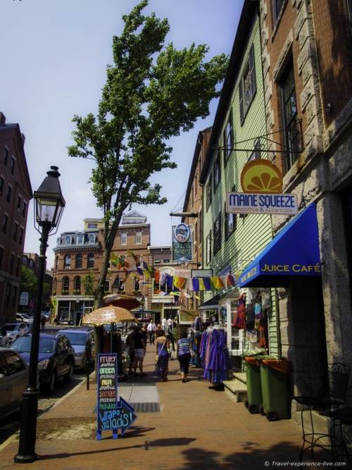 Street in the Old Port district of Portland.