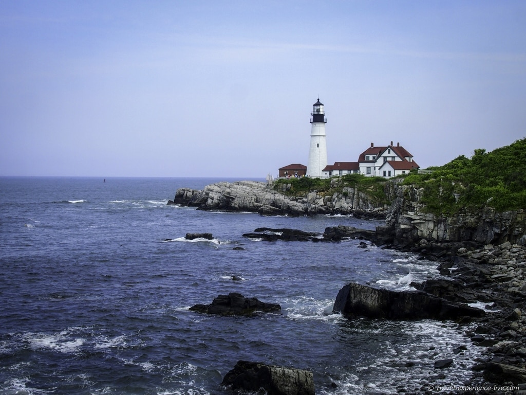 View of the Portland Head Light.