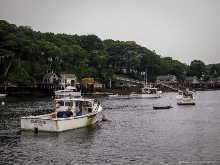 Harbor of New Harbor, Maine.
