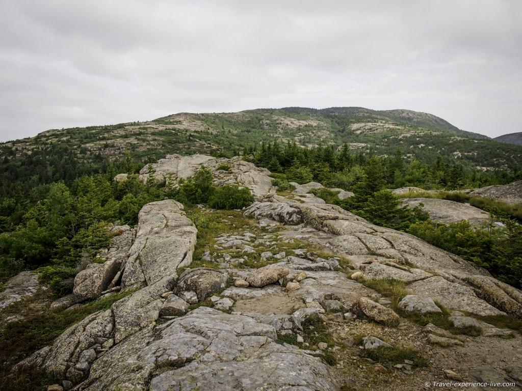 South Ridge Trail on Cadillac Mountain, Acadia NP.