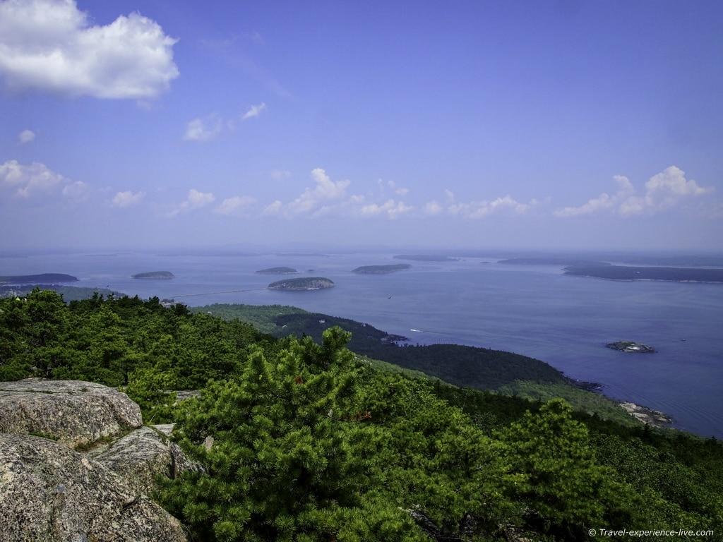 Summit of Champlain Mountain, Acadia National Park.
