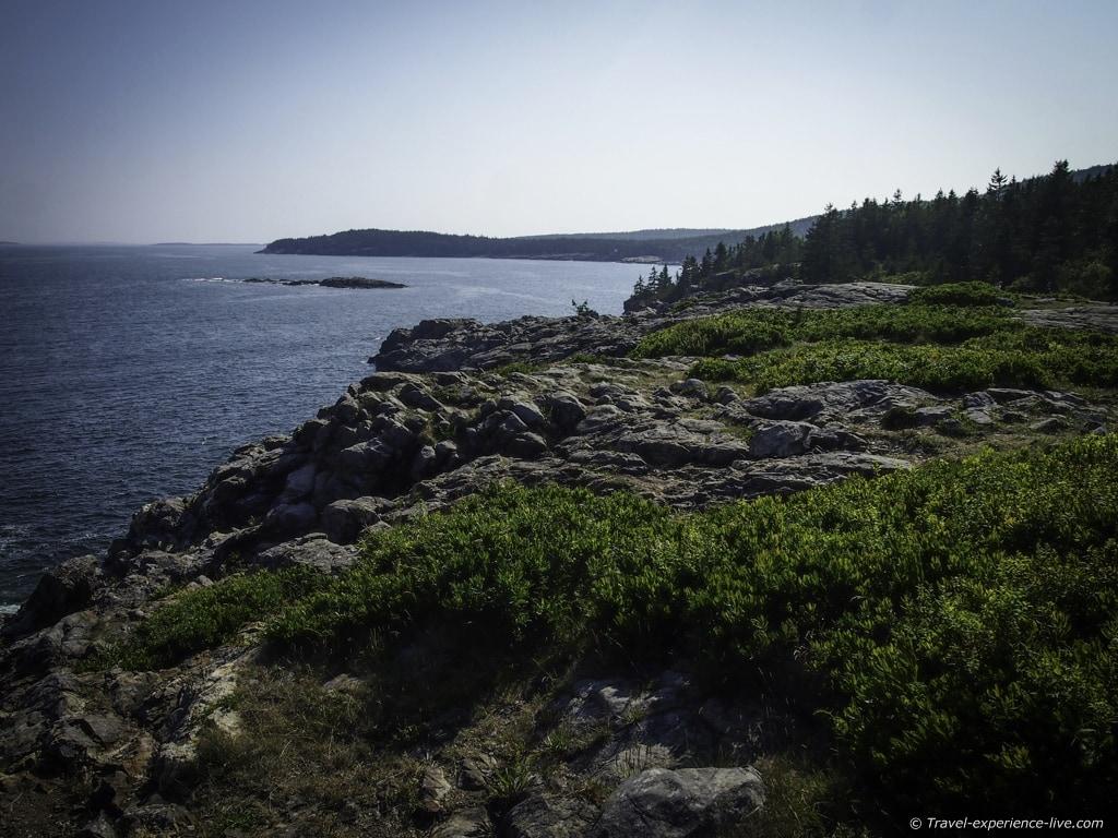 Ocean cliffs in Acadia National Park, Maine.