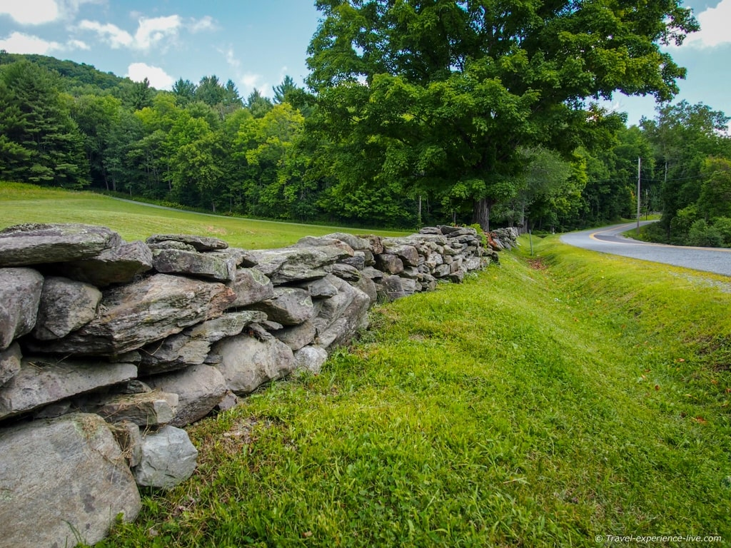 Stone wall in Thetford, Vermont.