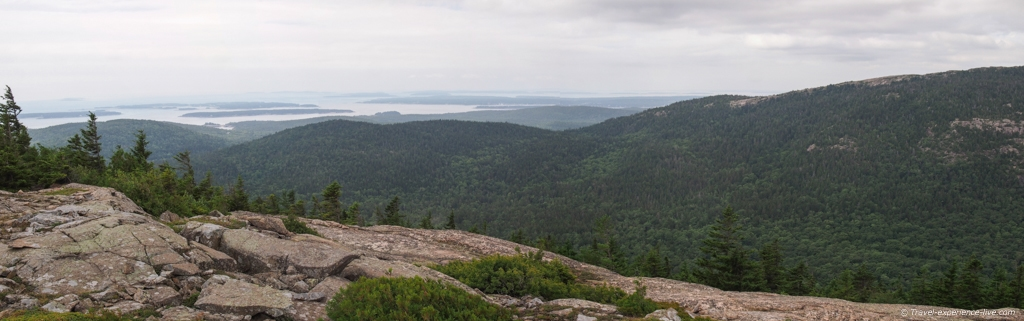 Panoramic view from Cadillac Mountain.