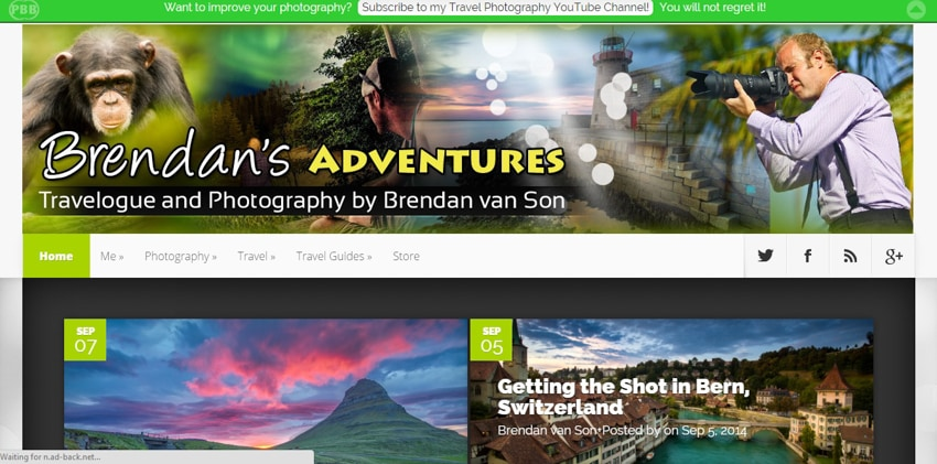 Travel photography bloggers: Brendan's Adventures