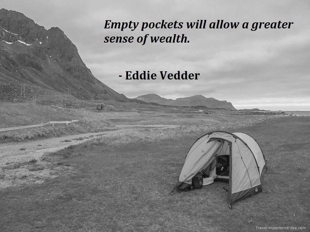 Eddie Vedder quote.