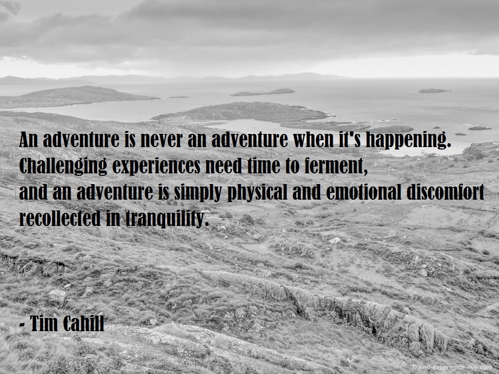 Tim Cahill Travel Quote.