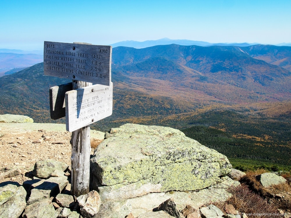 Summit of Mount Lafayette.