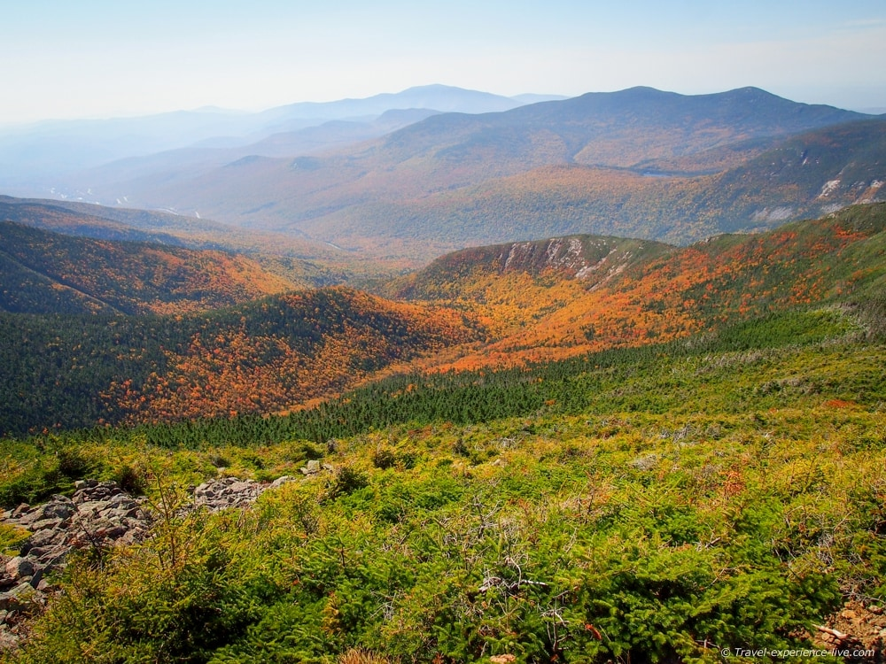 Fall foliage in the White Mountains.
