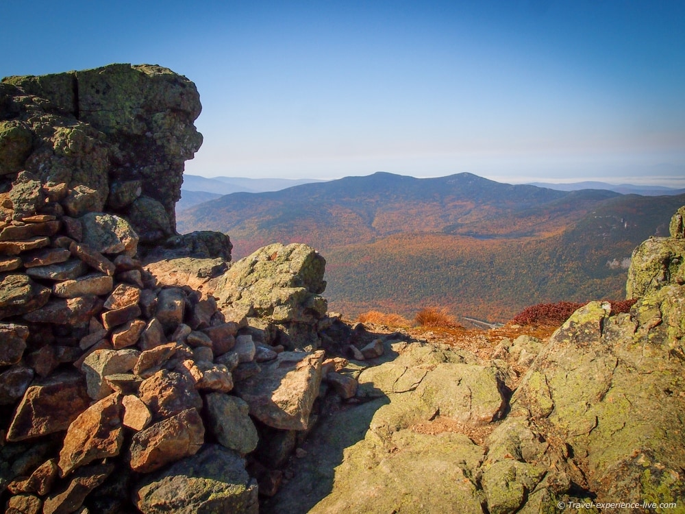 View from Mount Lincoln, New Hampshire.