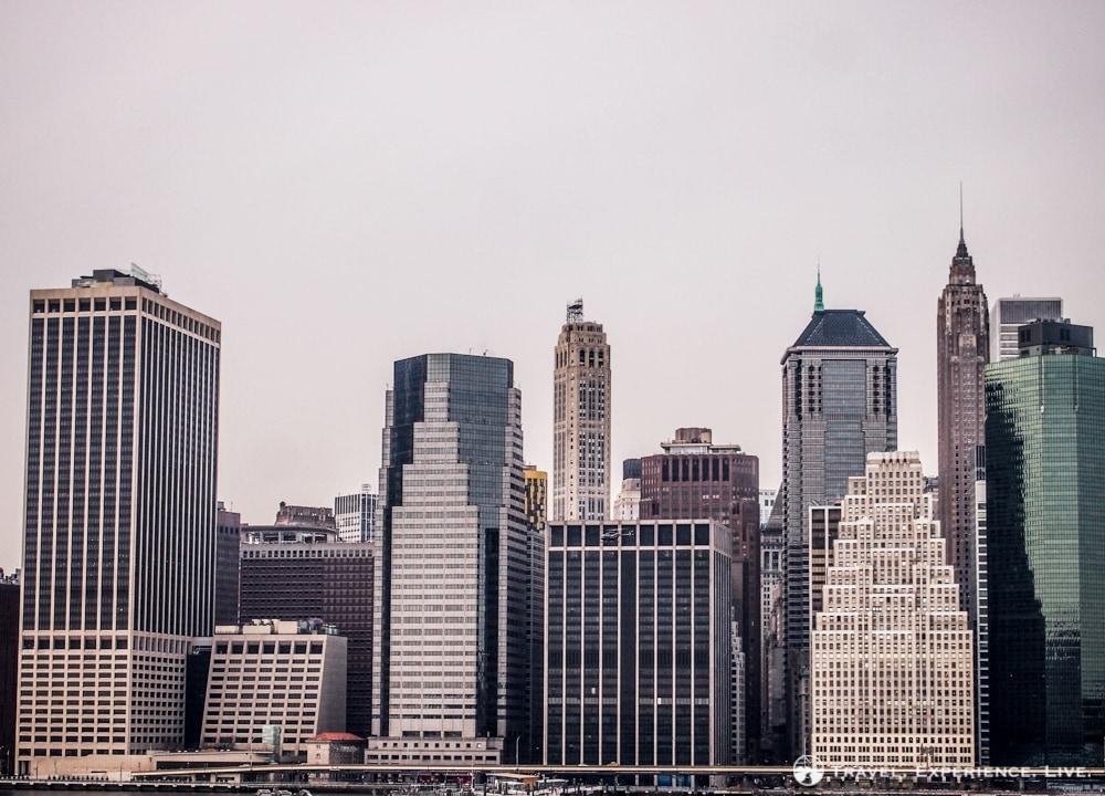 Lower Manhattan Skyline, seen from Brooklyn Heights.