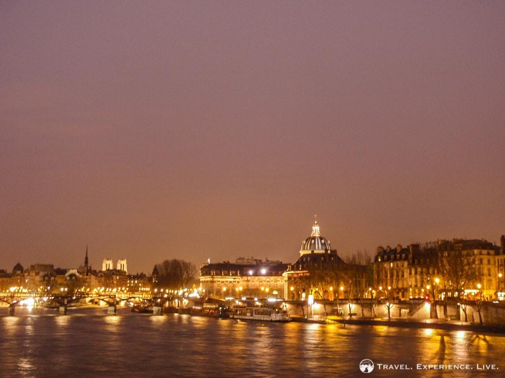 Evening photo of the Seine in Paris