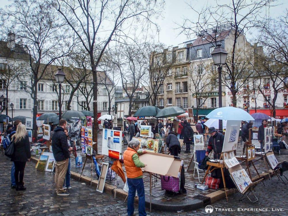 Artists' market in Montmartre